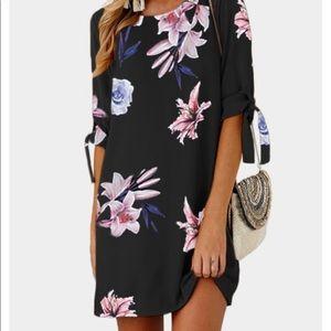 Navy Floral Mini Dress!! Never Worn! NWOT!